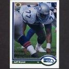 1991 Upper Deck Football #338 Jeff Bryant - Seattle Seahawks