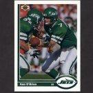 1991 Upper Deck Football #327 Ken O'Brien - New York Jets