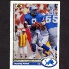 1991 Upper Deck Football #305 Rodney Peete - Detroit Lions