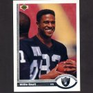 1991 Upper Deck Football #292 Willie Gault - Los Angeles Raiders