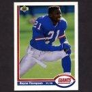 1991 Upper Deck Football #290 Reyna Thompson - New York Giants