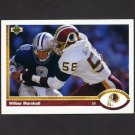 1991 Upper Deck Football #276 Wilber Marshall - Washington Redskins