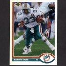 1991 Upper Deck Football #253 Sammie Smith - Miami Dolphins