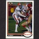 1991 Upper Deck Football #222 Al (Bubba) Baker - Cleveland Browns
