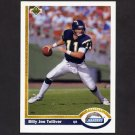 1991 Upper Deck Football #220 Billy Joe Tolliver - San Diego Chargers