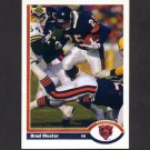 1991 Upper Deck Football #208 Brad Muster - Chicago Bears