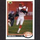 1991 Upper Deck Football #207 Eddie Brown - Cincinnati Bengals
