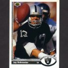 1991 Upper Deck Football #191 Jay Schroeder - Los Angeles Raiders