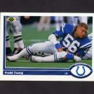 1991 Upper Deck Football #179 Fredd Young - Indianapolis Colts