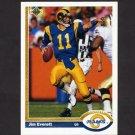 1991 Upper Deck Football #164 Jim Everett - Los Angeles Rams