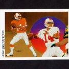 1991 Upper Deck Football #077 Vinny Testaverde / Team Checklist - Tampa Bay Buccaneers