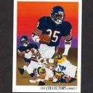 1991 Upper Deck Football #072 Neal Anderson / Team Checklist - Chicago Bears