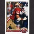 1991 Upper Deck Football #059 Kevin Fagan - San Francisco 49ers