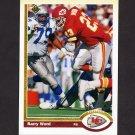 1991 Upper Deck Football #040 Barry Word - Kansas City Chiefs