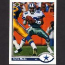 1991 Upper Deck Football #037 Kelvin Martin - Dallas Cowboys
