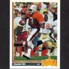 1991 Upper Deck Football #028 Randal Hill RC - Miami Dolphins