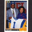 1991 Upper Deck Football #021 Todd Lyght RC - Los Angeles Rams