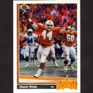 1991 Upper Deck Football #020 Chuck Webb RC - Green Bay Packers
