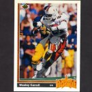1991 Upper Deck Football #012 Wesley Carroll RC - New Orleans Saints