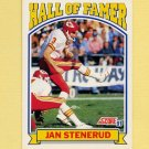 1991 Score Football #670 Jan Stenerud HOF - Kansas City Chiefs