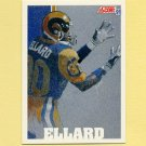 1991 Score Football #642 Henry Ellard - Los Angeles Rams