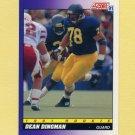 1991 Score Football #614 Dean Dingman - Pittsburgh Steelers