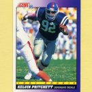 1991 Score Football #599 Kelvin Pritchett RC - Detroit Lions