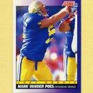 1991 Score Football #591 Mark Vander Poel RC - Indianapolis Colts