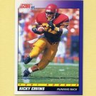 1991 Score Football #582 Ricky Ervins RC - Washington Redskins