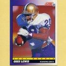 1991 Score Football #571 Greg Lewis RC - Denver Broncos