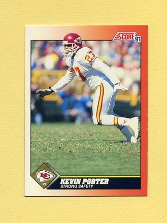 1991 Score Football #436 Kevin Porter - Kansas City Chiefs
