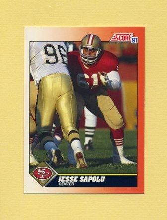 1991 Score Football #434 Jesse Sapolu - San Francisco 49ers