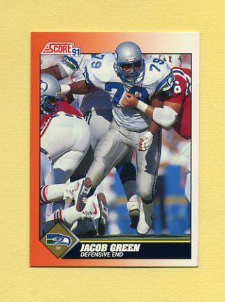 1991 Score Football #424 Jacob Green - Seattle Seahawks