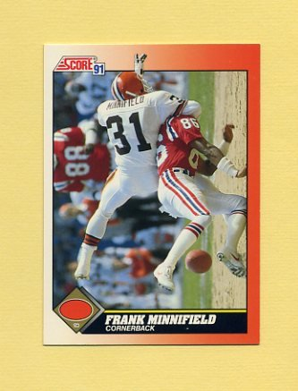 1991 Score Football #414 Frank Minnifield - Cleveland Browns