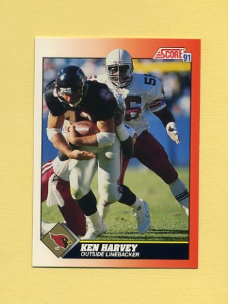 1991 Score Football #381 Ken Harvey - Phoenix Cardinals