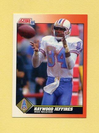 1991 Score Football #377 Haywood Jeffires - Houston Oilers