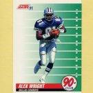 1991 Score Football #327 Alexander Wright - Dallas Cowboys
