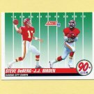 1991 Score Football #326 J.J. Birden RC / Steve DeBerg - Kansas City Chiefs