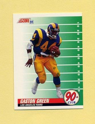 1991 Score Football #322 Gaston Green - Los Angeles Rams