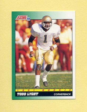 1991 Score Football #318 Todd Lyght RC - Los Angeles Rams