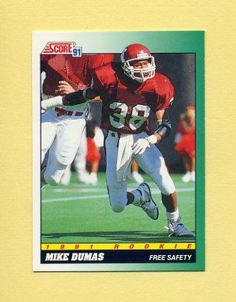 1991 Score Football #314 Mike Dumas RC - Houston Oilers