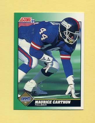 1991 Score Football #304 Maurice Carthon - New York Giants
