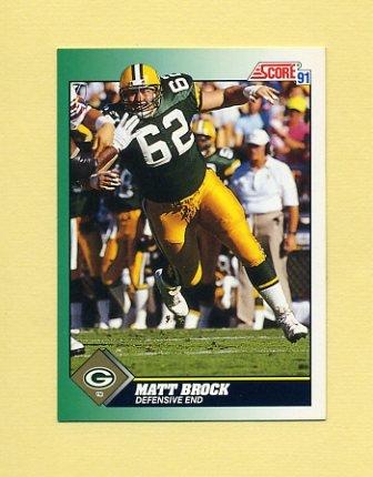 1991 Score Football #303 Matt Brock RC - Green Bay Packers