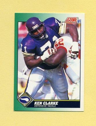 1991 Score Football #299 Ken Clarke - Minnesota Vikings