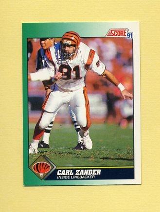 1991 Score Football #291 Carl Zander - Cincinnati Bengals