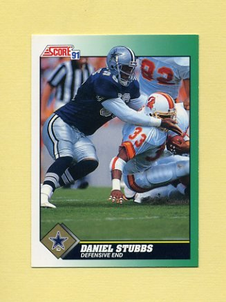 1991 Score Football #287 Daniel Stubbs - Dallas Cowboys