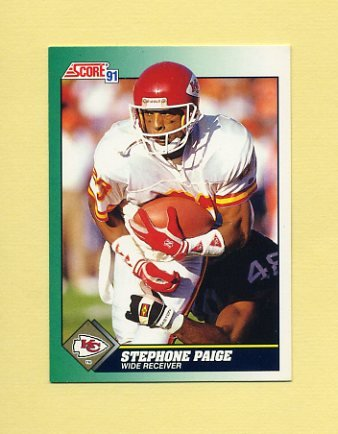 1991 Score Football #283 Stephone Paige - Kansas City Chiefs