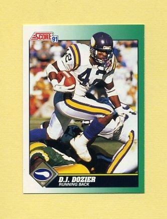 1991 Score Football #274 D.J. Dozier - Minnesota Vikings