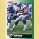 1991 Score Football #266 Andy Heck - Seattle Seahawks