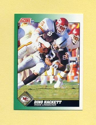 1991 Score Football #265 Dino Hackett - Kansas City Chiefs